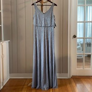 Adrianna Papell NWT Beaded Blouson Gown Size 6